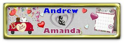 Fully Personalised Just Married Novelty Numberplate Plaque