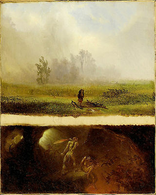 William Holbrook Beard It Rains It Shines The Devil Whiping His Wife Art  Canvas