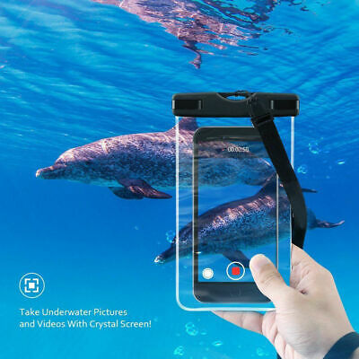 Waterproof Underwater Mobile Phone Case Swimming Dry Bags Pouch UK Cell Pouch CE