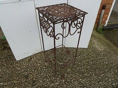 Vintage Wrought Iron Small Plant Stand