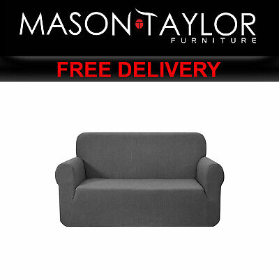 MT High Stretch Sofa Cover Couch Protector 2Seater Grey SCOVER-MERBAU-2-GY AU