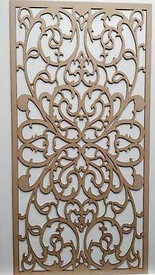 Radiator Cabinet Decorative Screening Perforated 3mm & 6mm thick MDF laser cutG5