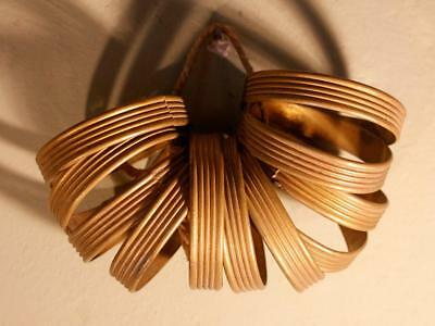 SUPER Set 11 Vintage French Brass Curtain Rings Antique Chateau Chic Rococo