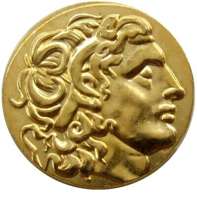 )Alexander III the Great 336-323 BC.gold Drachm Ancient Greek Coin Gold Plated