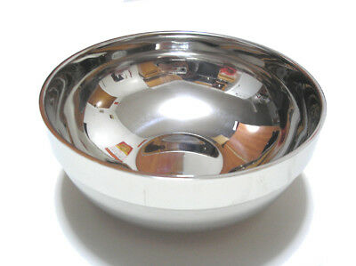 Double Layer Heat Insulated Stainless Steel Bowl Large Size 20 cm