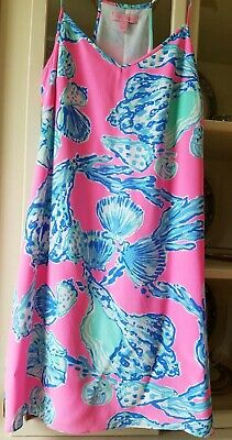 268d94696f18 Lilly Pulitzer Dusk Slip Dress Pink Pout Barefoot Princess Small 12023