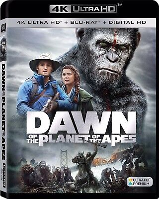 Dawn Of The Planet Of The Apes 4k Ultra HD Bluray Movie