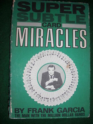Super Subtle Card Miracles - Frank Garcia 1973 First Edition