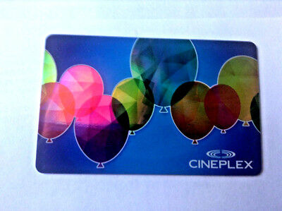 Cineplex Mint Gift Card Balloons Movies No Value Rechargeable !