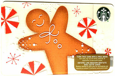 NEW STARBUCKS 2015 HOLIDAY Cookie GIFT CARD RECHARGEABLE no Value