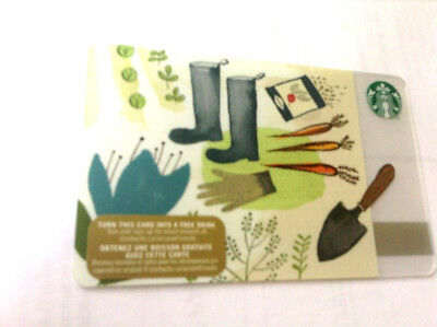 2015 Starbucks Gardening Gift Card No Value Bilingual Rechargeable