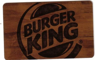 CANADA BURGER KING classic brown Gift Card - New No Value BILINGUAL