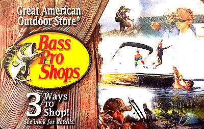 Bass Pro Shops Gift Card -Good in Store or Online--0-- balance RECHARGEABLE !