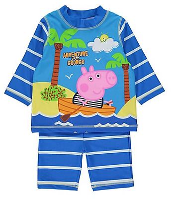 Peppa Pig Boys George Pig Two Piece Swim Set
