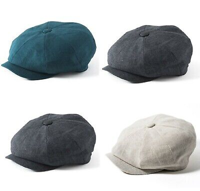 Failsworth 100% Irish Linen Alfie Bakerboy Cap (Petrol/Natural/Charcoal) UPF40