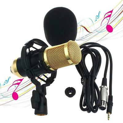 BM800 Condenser Audio Microphone Black Sound Studio Dynamic Mic + Shock Mount DI