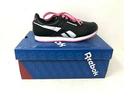 NEW! REEBOK WOMEN'S Classic Jogger Lace Up Shoes BlkWhtPink #J95481 h16 a