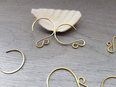 Brass Circle Ear Wires | HANDMADE TO ORDER | 5/10/20 Pairs | LUNA