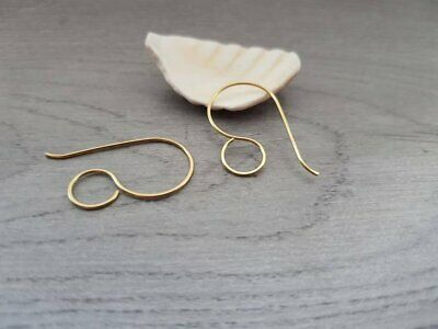 Brass Large Round Ear Wires | HANDMADE TO ORDER | 5/10/20 Pairs | CERES
