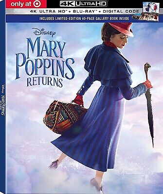 Mary Poppins Returns 4K Ultra HD Disc Only Never Viewed