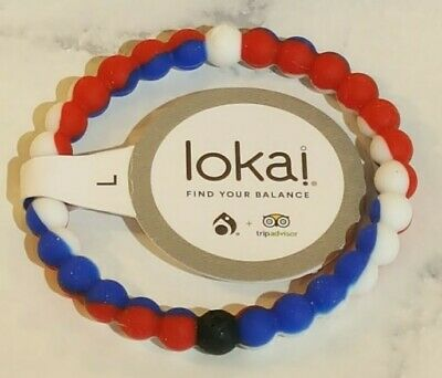 Lokai Authentic R/W/B Size LARGE - TripAdvisor Int'l Rescue Comm