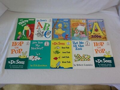 Lot of 10 Dr. Seuss Hardcover Bright and Early & Beginners Books EXCELLENT COND