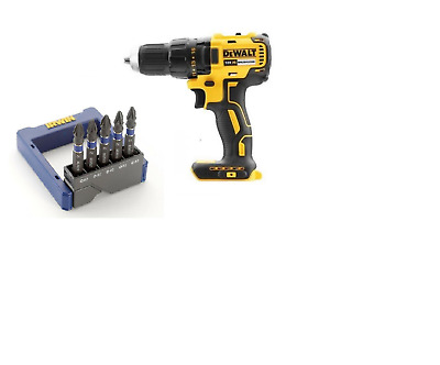 DeWalt DCD777N 18v XR Brushless Drill Driver Body + Irwin 5 Impact 50mm Bits