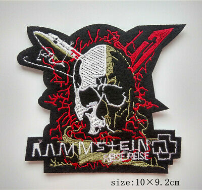 Skull Rammstein Motorcycle Biker Iron-on/sew-on Embroidered Patch