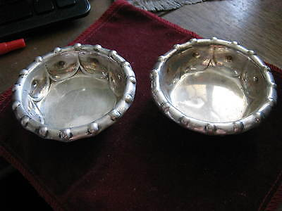 Pair of Sterling Master Open Salts DOMINICK & HAFF for BIGELOW KENNARD & Co. #34