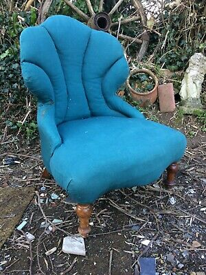 "Antique Victorian Nursing Chair For Restoration 25""w"