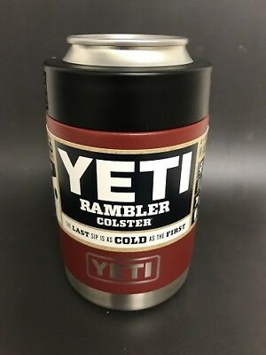 Authentic YETI Rambler COLSTER 12oz *BRICK RED* NEW!!