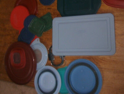 YOU PICK one of the 19 misc Pyrex Rubbermaid Visions Cover Lids GUC