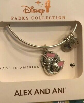 Disney Parks Alex And Ani Dumbo And Mrs Jumbo Silver Bracelet New In Hand