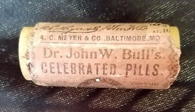Old Quack Medicine Wood Container Dr John Bulls Celebrated Pills Meyer Baltimore