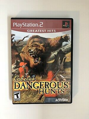 Cabela's Dangerous Hunts (PlayStation 2, 2003) Complete Greatest Hits