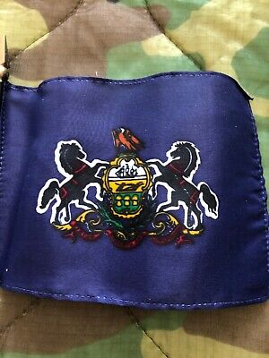 """Minnesota State Miniature Fabric Hand Held Table Top Desk Flag Polyester 4/"""" x 6/"""""""