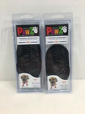 PawZ Protex Dog Boots Water-Proof Paws Disposable Reusable Small Black -20 Boots