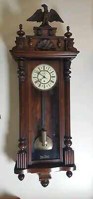 Fab Old Single Weighted Gustav Becker Vienna Wall Clock