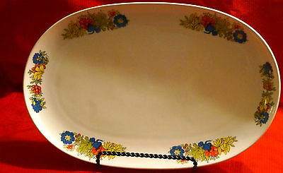 "VINTAGE BAVARIAN CHINA 14""x 9"" PLATTER, MADE IN WEST GERMANY"