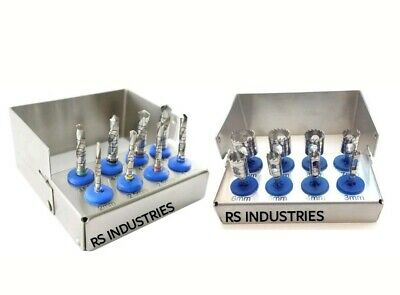 NEW Dental Trephine and Drills 2 Kit 16 pcs Implant Surgical  With Bur Hold