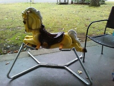 Vintage Horse Ride On Spring Rocking Horse NICE CONDITION!