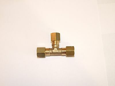 10mm Brass Tee Quality Gas compression fitting.