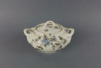Antique Imperial Russian Porcelain Floral Sugar Bowl by Kornilov Br. Factory
