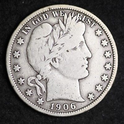 1906 Barber Half Dollar CHOICE FINE FREE SHIPPING E365 GCH