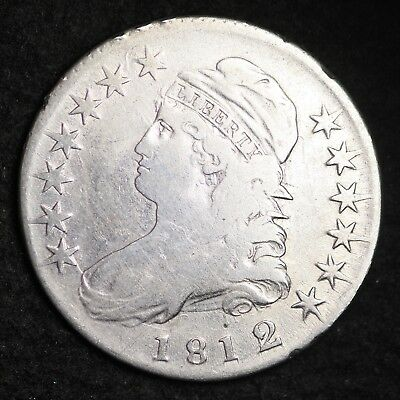 1812/1 Capped Bust Half Dollar CHOICE VF FREE SHIPPING E307 ACNT