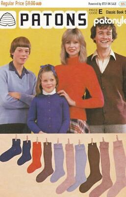 Vintage Patons No Classic Book 50 SOCKS JUMPERS  Knitting Patterns 1950's