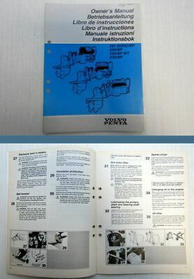 Volvo Penta 251 250 230 SP DOHC MT Engine Owners Manual 1992