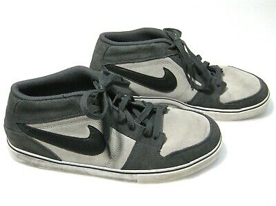 256382a74 NIKE RUCKUS MID Mens Gray Black Suede Leather Athletic Skate Shoes (Size  11.5)