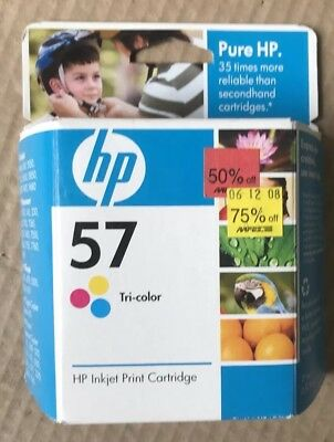 Genuine Hp C6657AN 57 Tri-Color Ink Cartridge Exp. Oct. 2008 Hewlett Packard