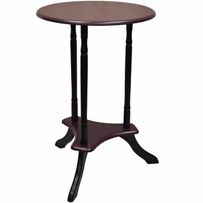 Small Telephone Table Vintage Round Shabby Chic Side Wooden Coffee Table Brown